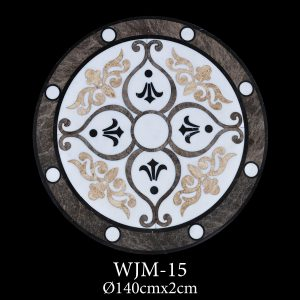 Waterjet Medallion | Afyon White