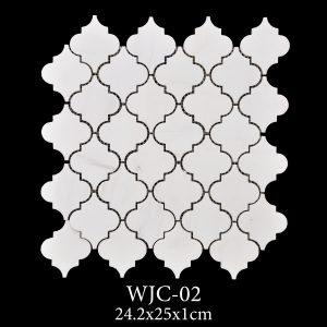 Waterjet Mosaic | Afyon White