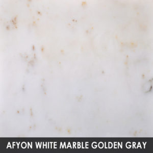 Afyon White Marble Golden Gray